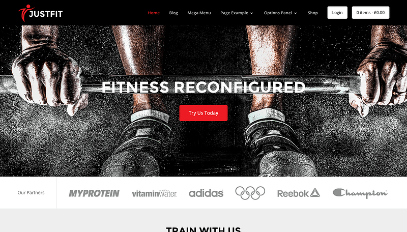 JustFit WP theme