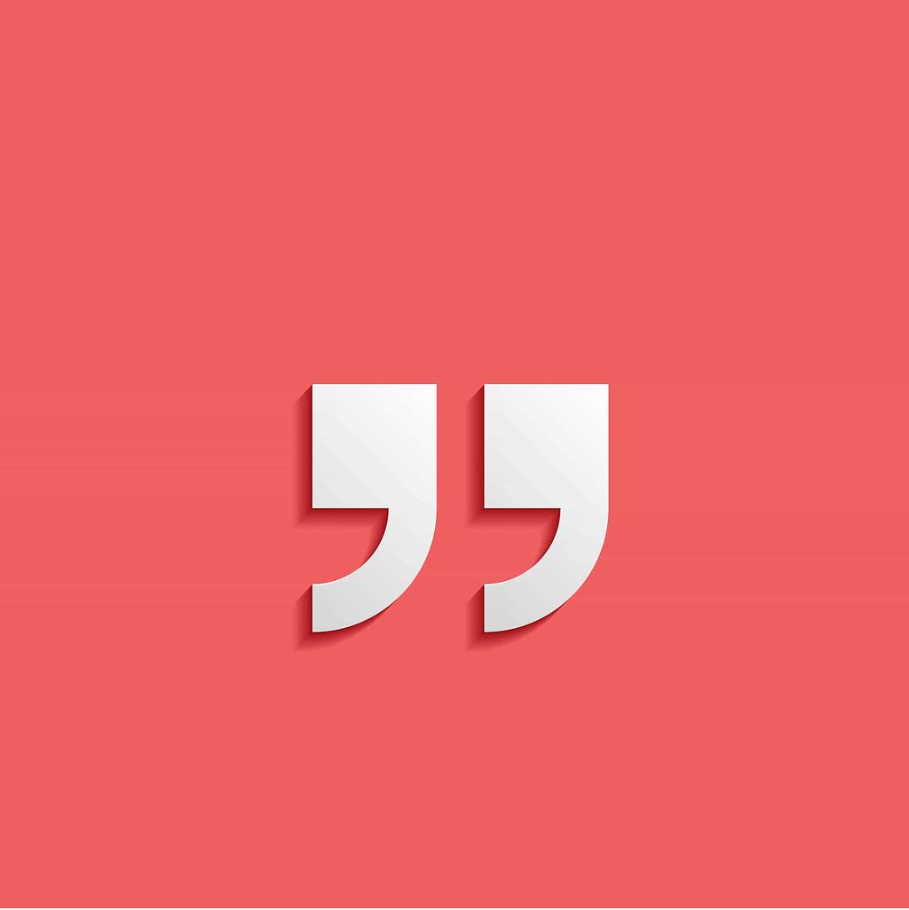 Large quotation mark icon