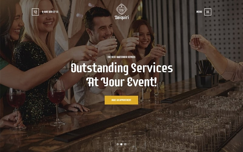 Daiquiri Bartender Services Catering Wp Theme