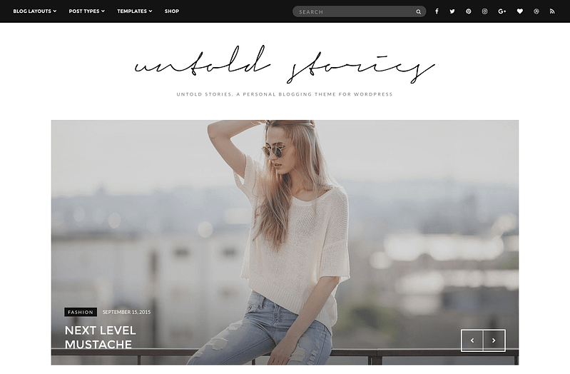 Untold Stories fashion blog theme