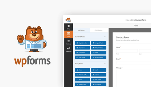 WPForms form plugin