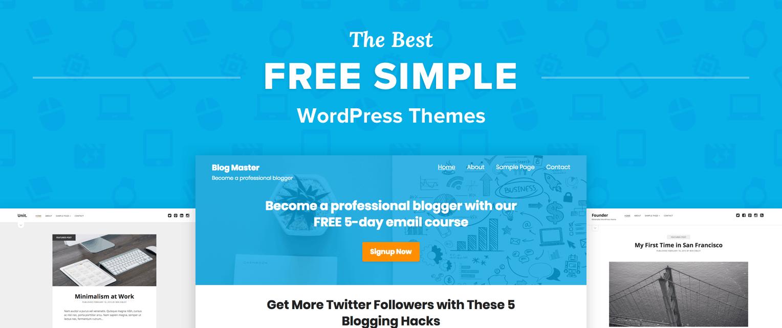 Free Simple WordPress Themes