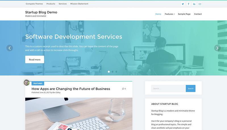 Startup Blog Demo