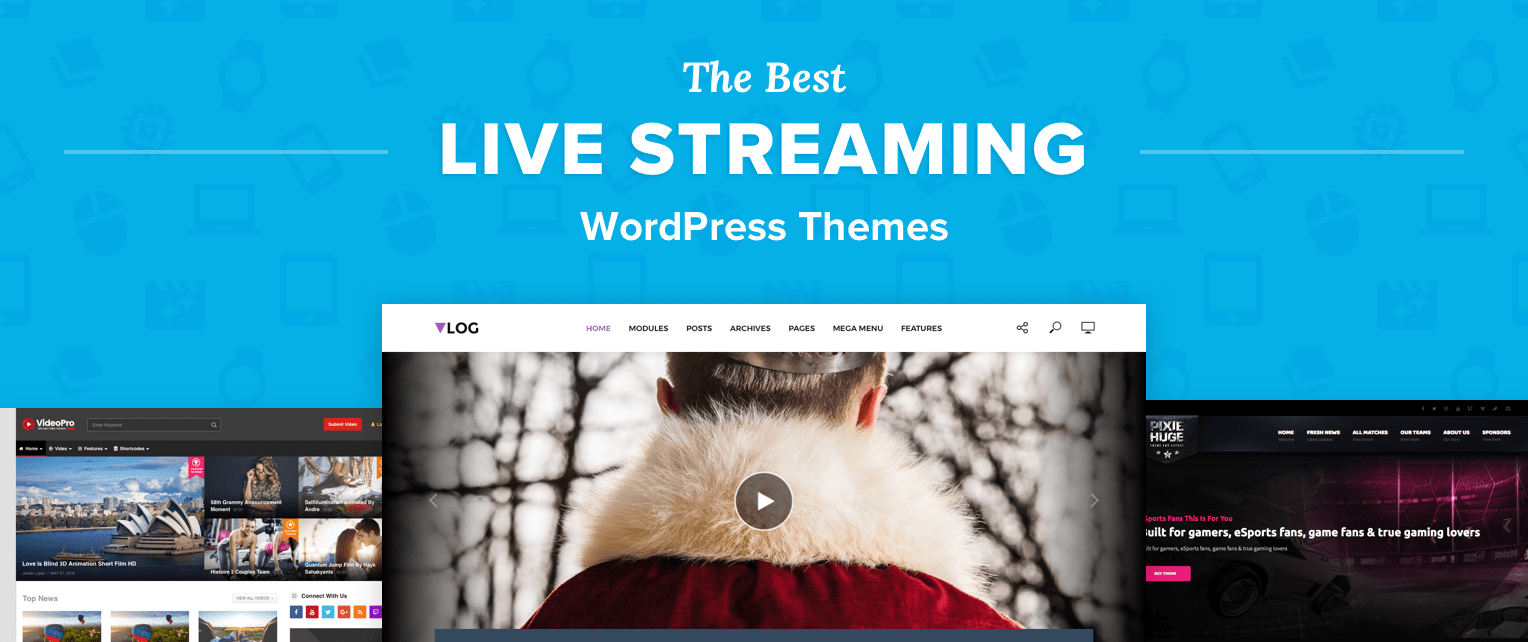 Live Streaming Wordpress Themes