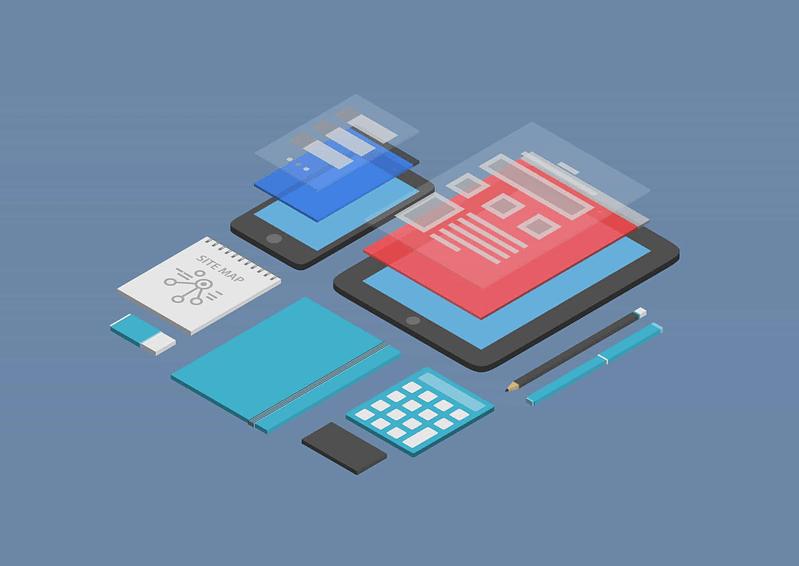 Mobile website being built