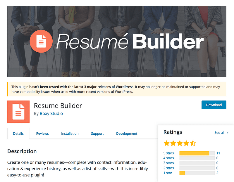 Top 5 Best Wordpress Resume Plugins For 2019 Compete Themes