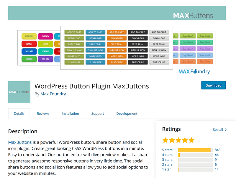 MaxButtons WordPress plugin