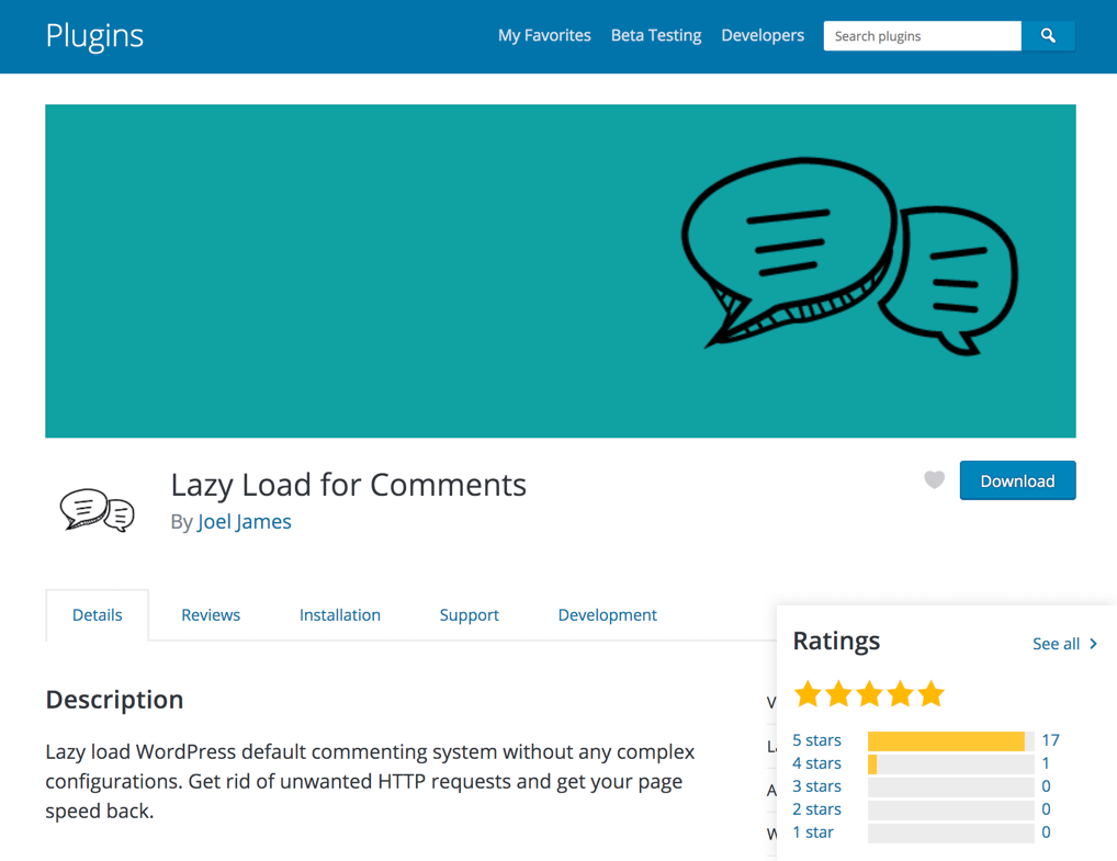 Lazy Load Comments Plugin