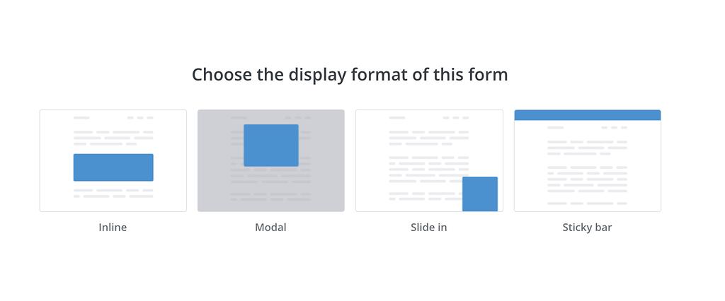 Optin Form Types
