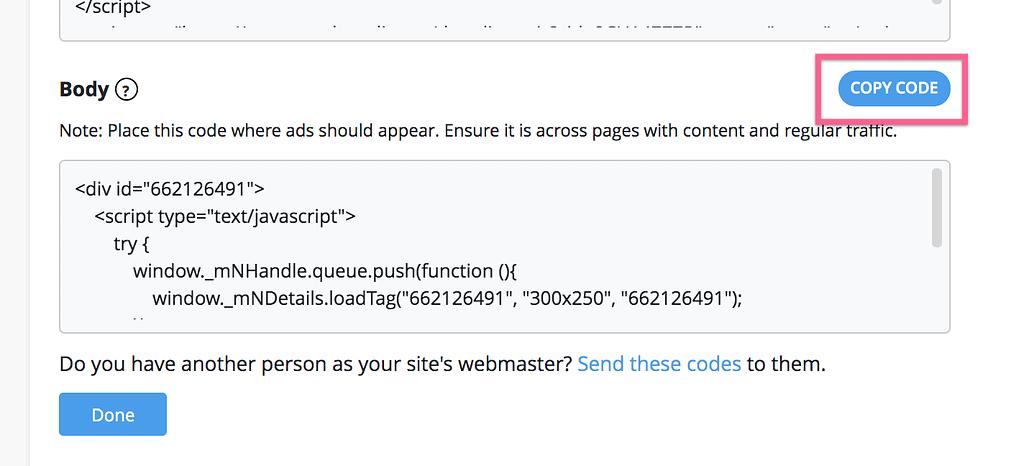Copy Body Code