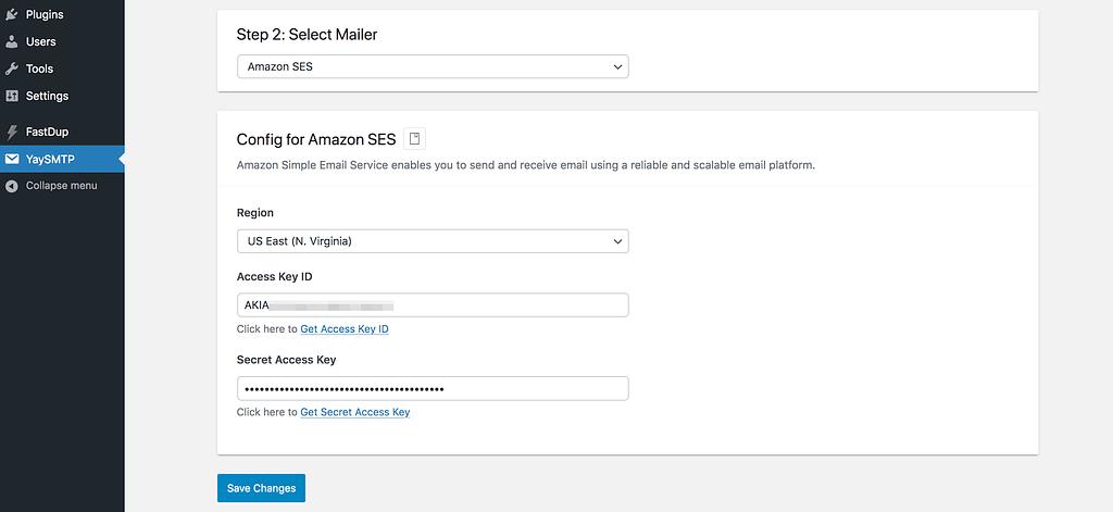 Add Amazon Keys