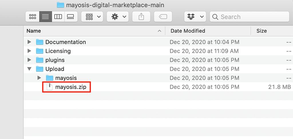 Mayosis Zip File
