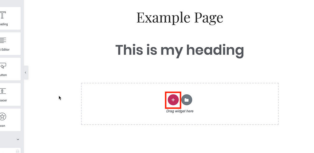 Page Structure Button