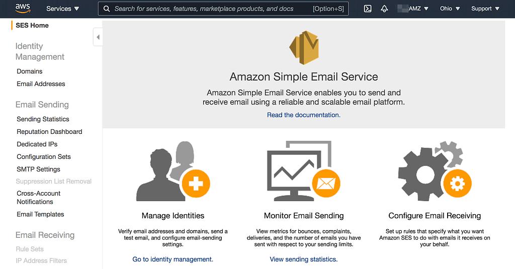 Amazon SES Home