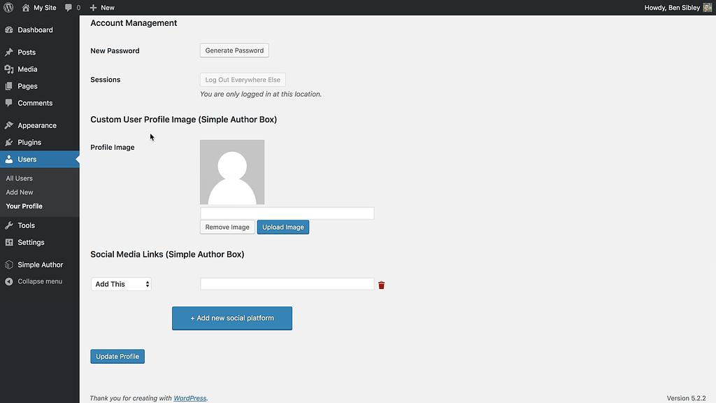 Author Avatar Uploader