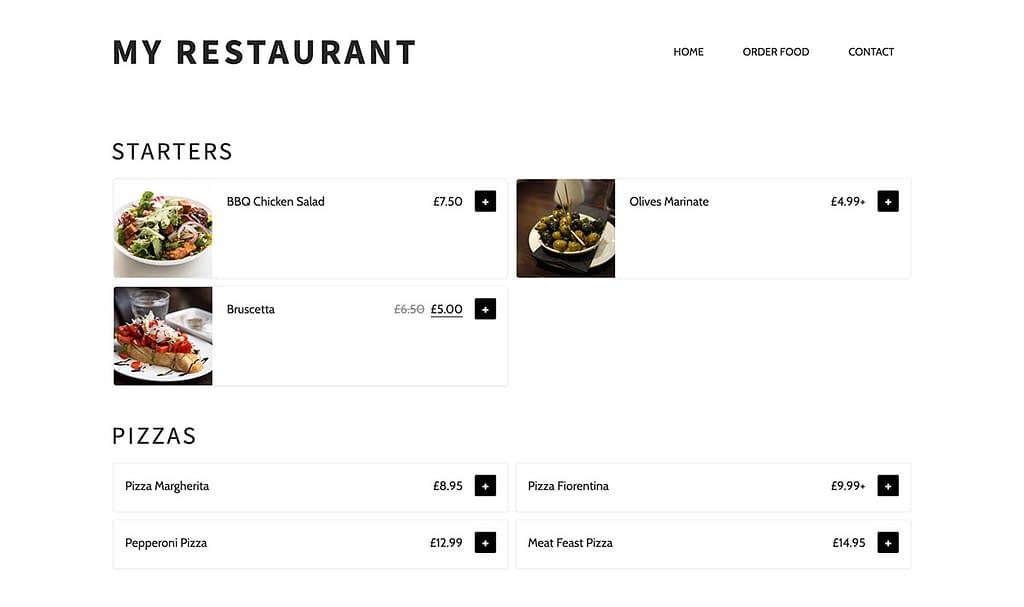WooCommerce Restaurant Ordering System