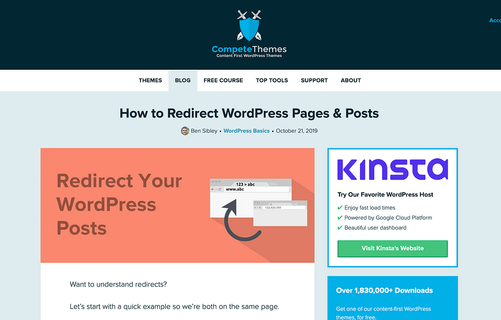 Redirect Posts Pages