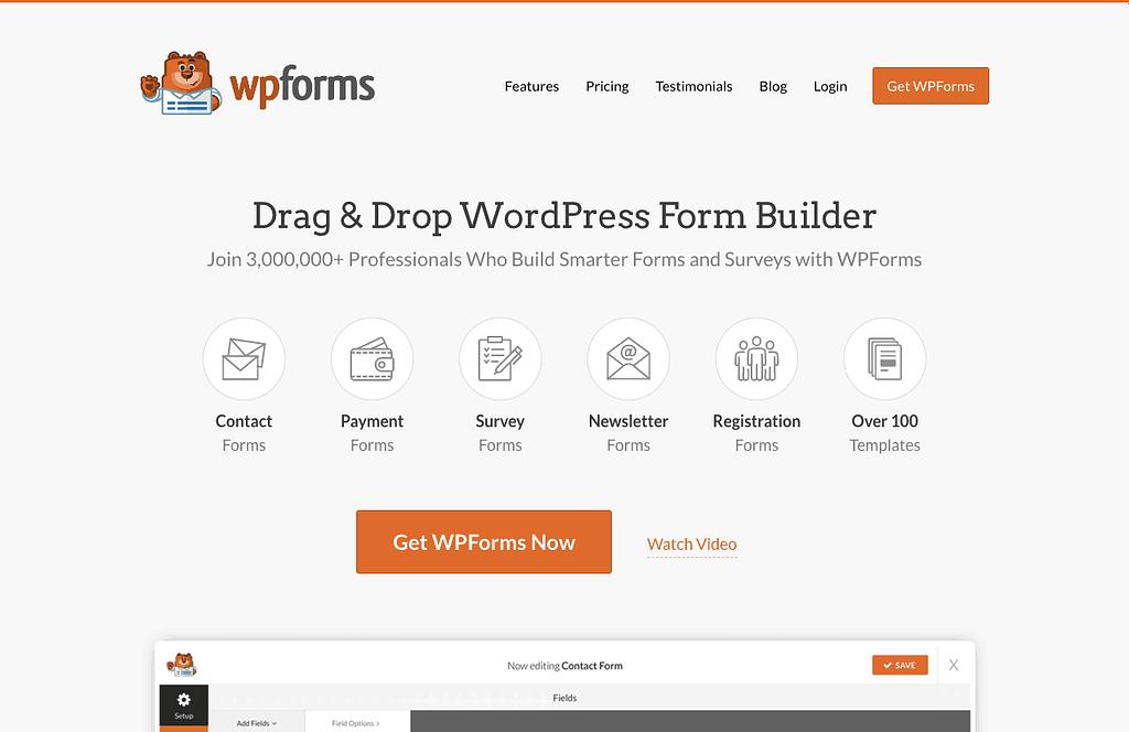 WPForms website