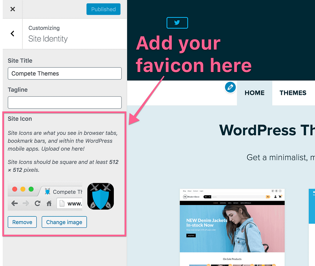 Site Icon Option