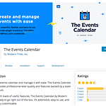 The Events Calendar event management plugin