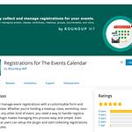Registrations Events Calendar Plugin