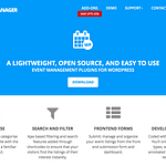 WP Event Manager website