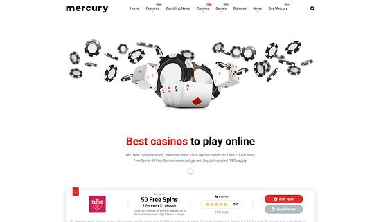 Mercury casino affiliate theme