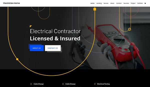 Divi  Electrician WordPress theme