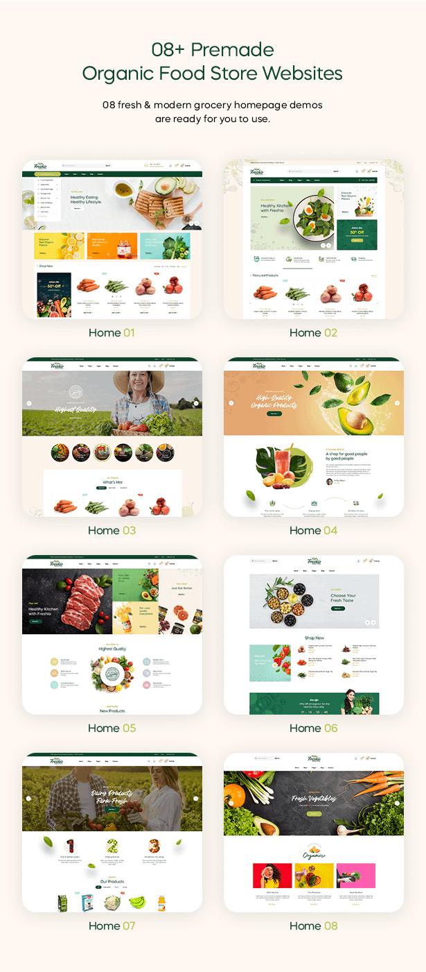 Freshio Homepages