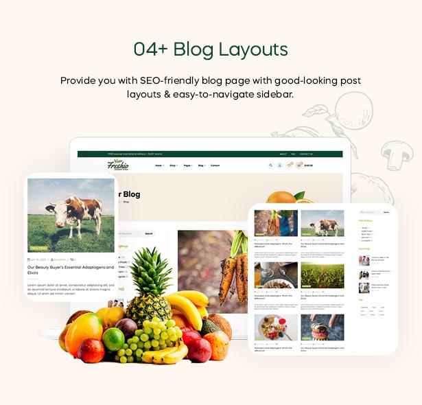 Freshio Blog Layouts