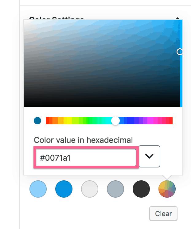 Hexadecimal Color Code Input