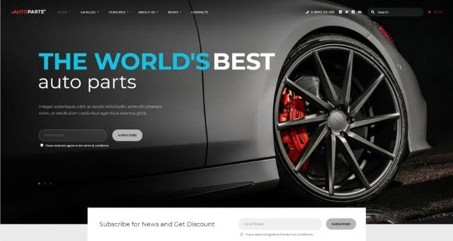 Car Parts Store template