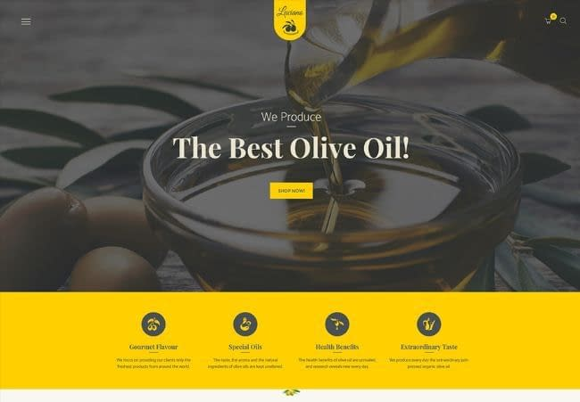Olive Oil & Vinegars theme