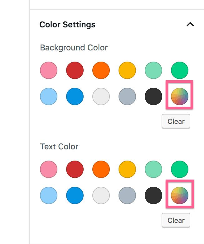 Custom Color Option