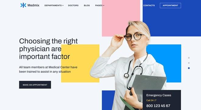 Medmix Medical WordPress Theme