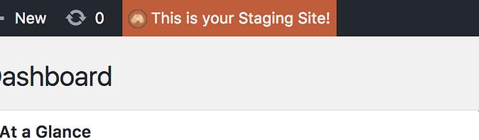 Staging site reminder