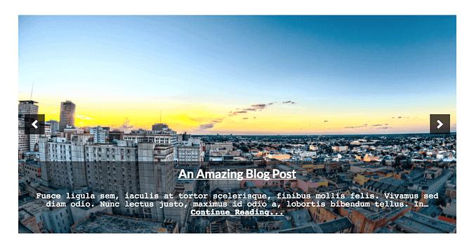 Featured Content slider