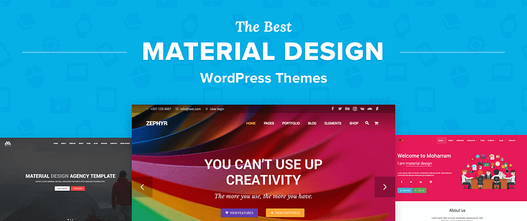 Material Design Wordpress Themes