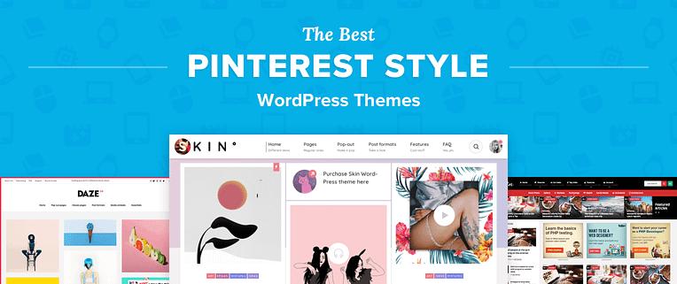 Pinterest Style WordPress Themes