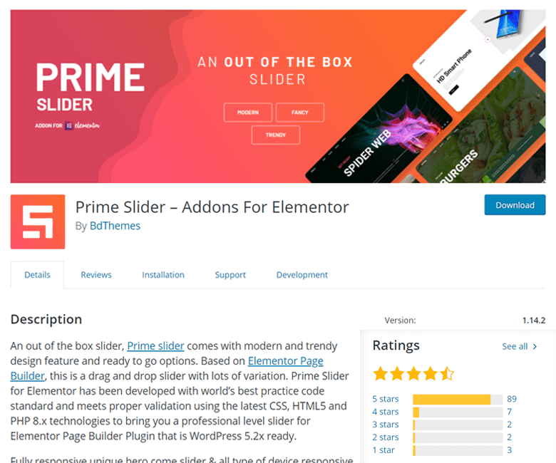 Prime Slider for Elementor