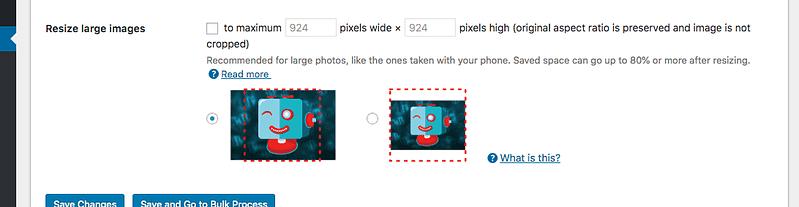Resize Images Setting