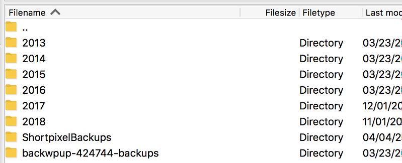 FTP Media Folders