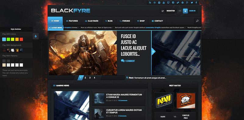 Blackfyre gamer theme