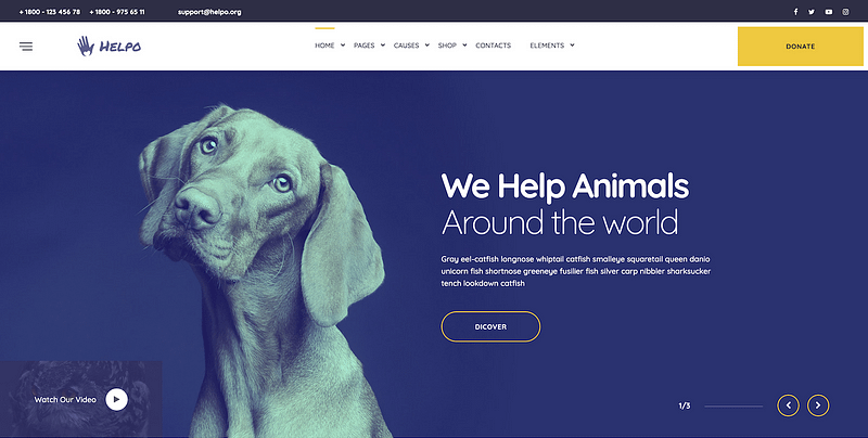 Helpo charity crowdfunding theme