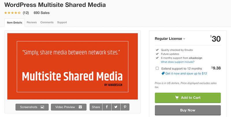 Multisite Shared Media