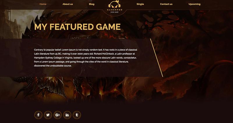 GamerPro WordPress theme
