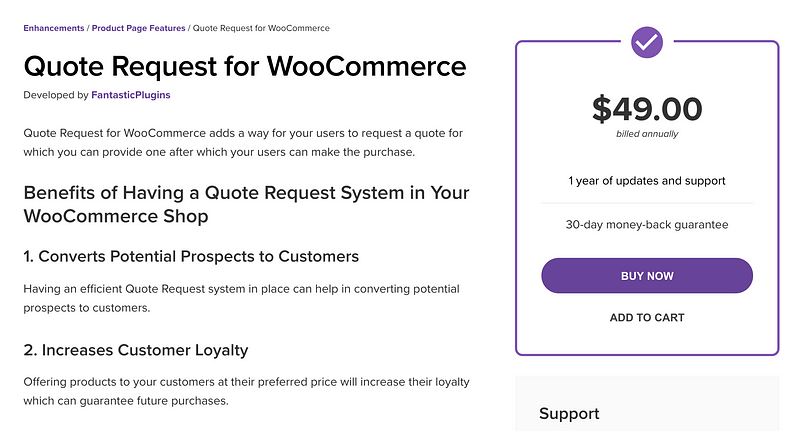 Quote Request for WooCommerce
