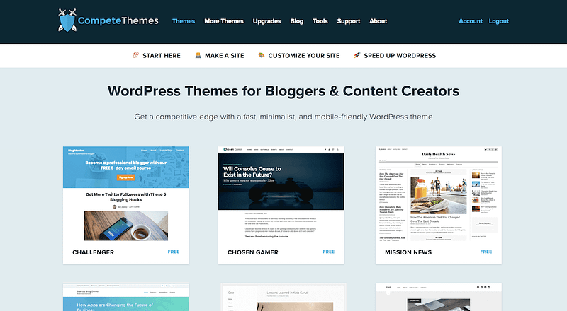 Compete Themes Homepage