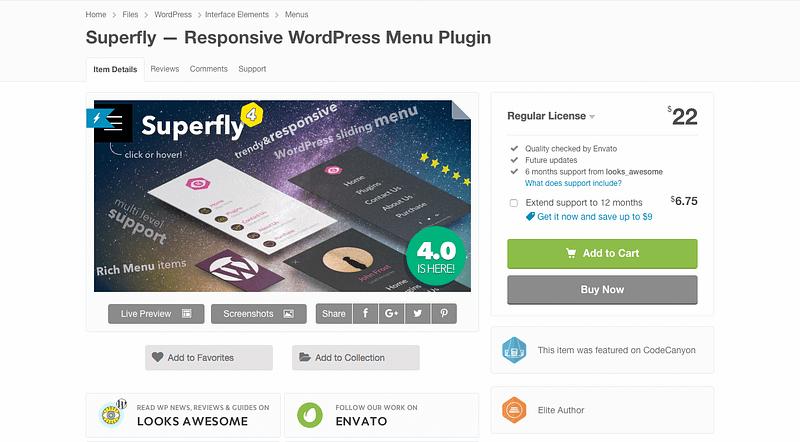 Superfly menu plugin