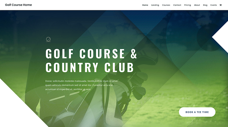 Divi golf layout